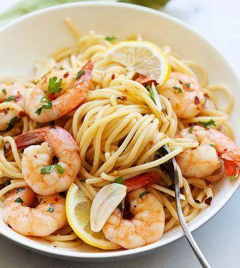Garlic Parmesan Spaghetti (The Best Recipe!) — Easy Weeknight #shrimpscampi