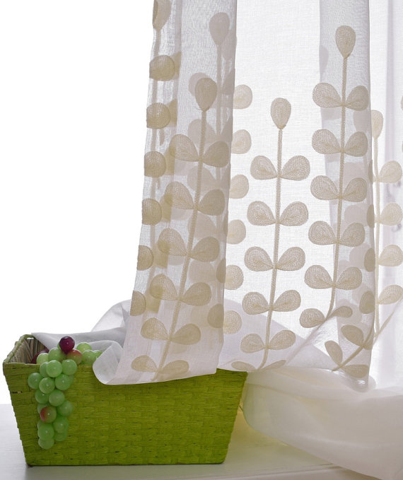 A Pair Of White Sheer Curtains Made To Order Upto 104 L