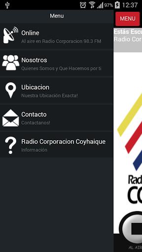 """Pertenece a la cadena nacional radial de mas de  40 emisoras de Corporación y Portales transmitiendo desde Arica a Punta Arenas las 24 hrs. del día, con una larga y prestigiosa trayectoria de mas de 50 años, """"unidos para unir a Chile """"     Nos sentimos previligeados por contar con la Radio Corporación de Coyhaique 98.3 Frecuencia Modulada, que nos permite transmitir desde esta ciudad con una Potencia de 350 KWatt, cubriendo toda la ciudad de Coyhaique y localidades de la región Con una…"""