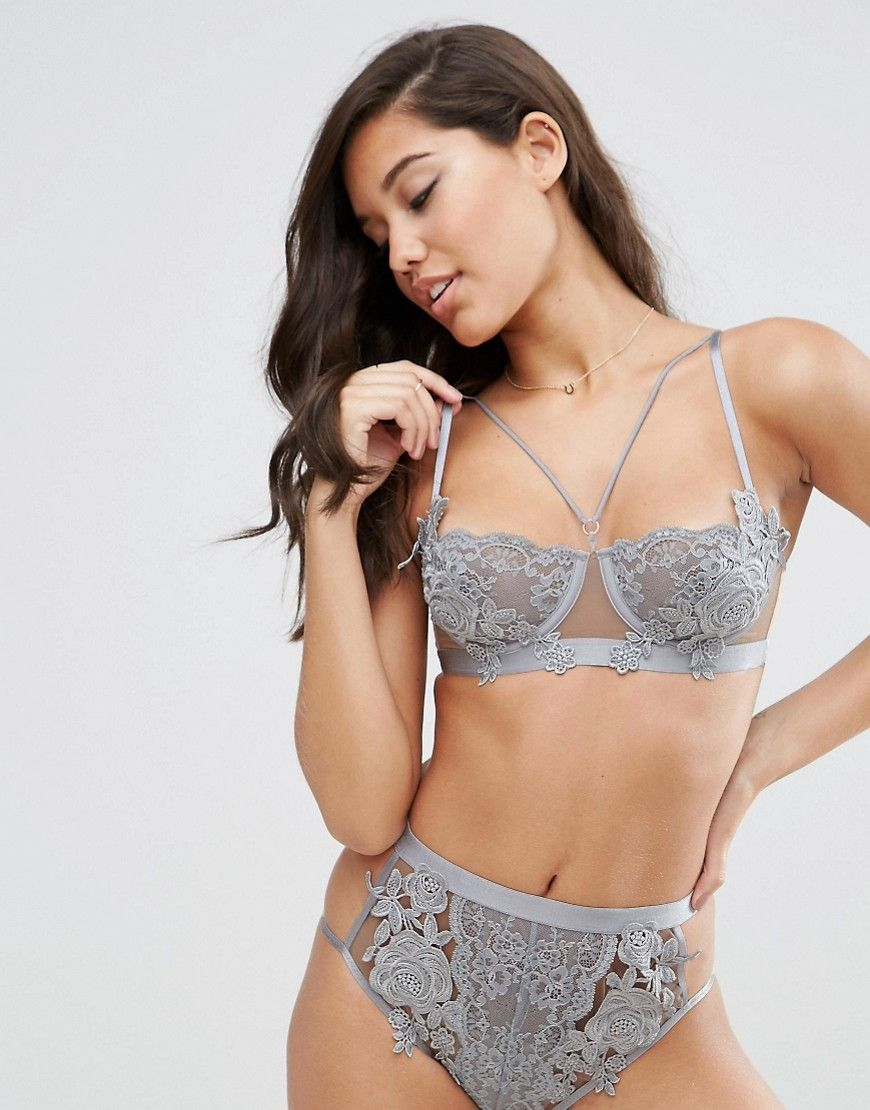 e99510156 Image 1 of ASOS Juliette Applique Underwire Bra