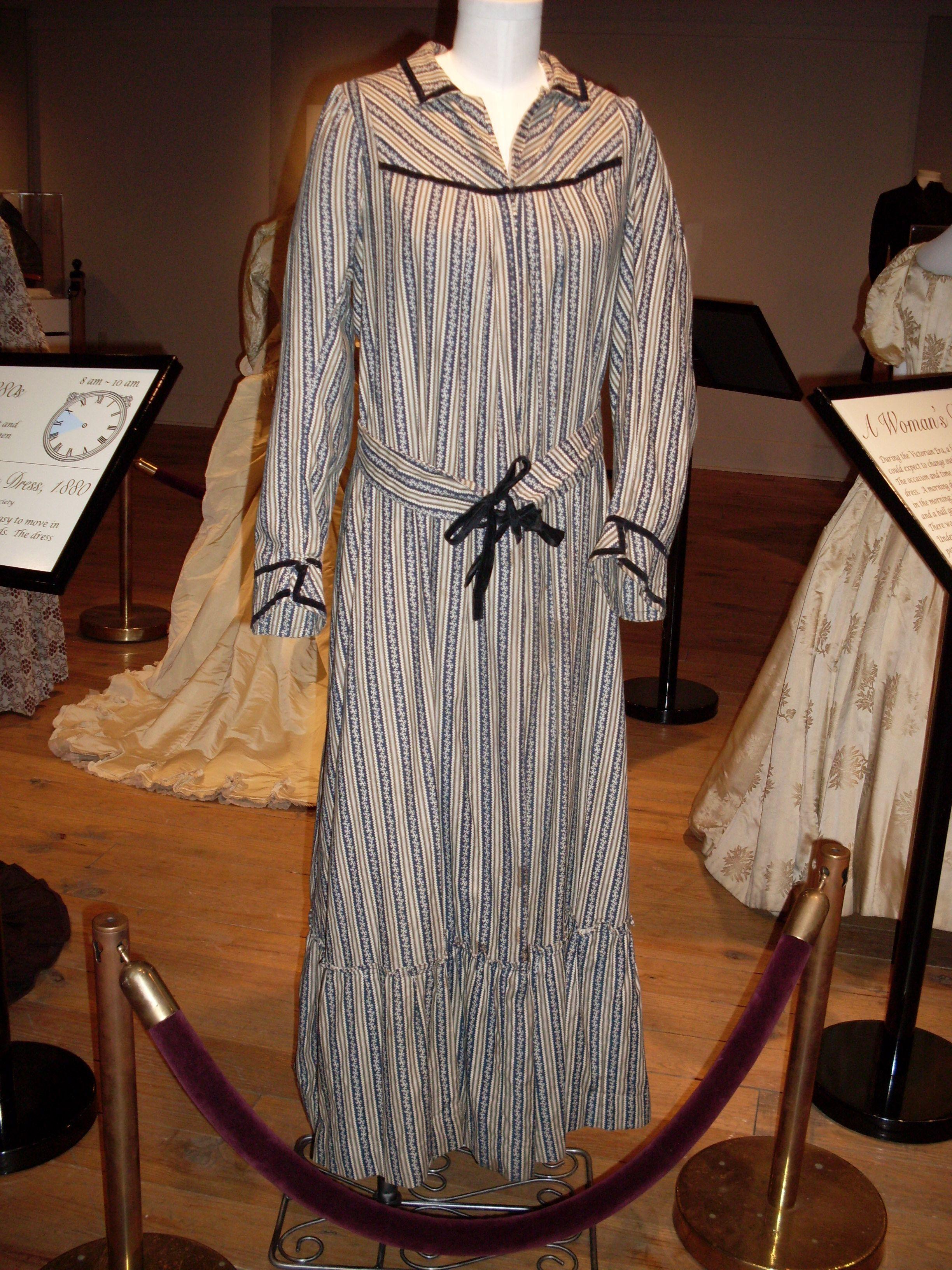 Victorian House Dress Worn In Am Victorian Clothing Wearing Dress Fashion [ 3264 x 2448 Pixel ]