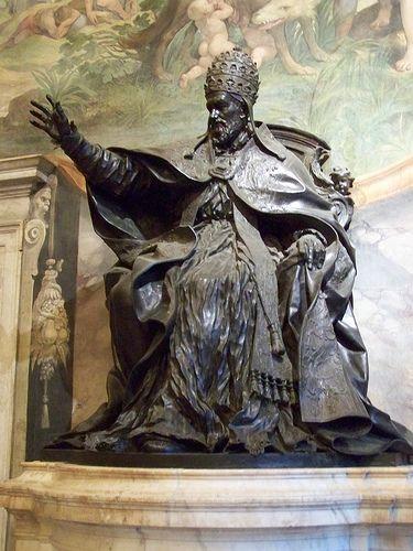 Statue du pape Innocent X  ALESSANDRO ALGARDI (Bologna 1595 - Roma 1654)   #TuscanyAgriturismoGiratola