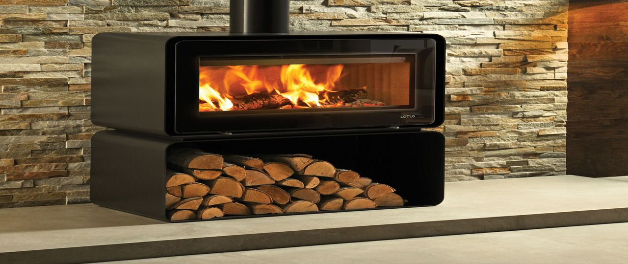 Amazing Modern Wood Burner With Cream Split Face Stone Cladding Tiles Stone Cladding Wood Burning Fires Stone Cladding Tiles