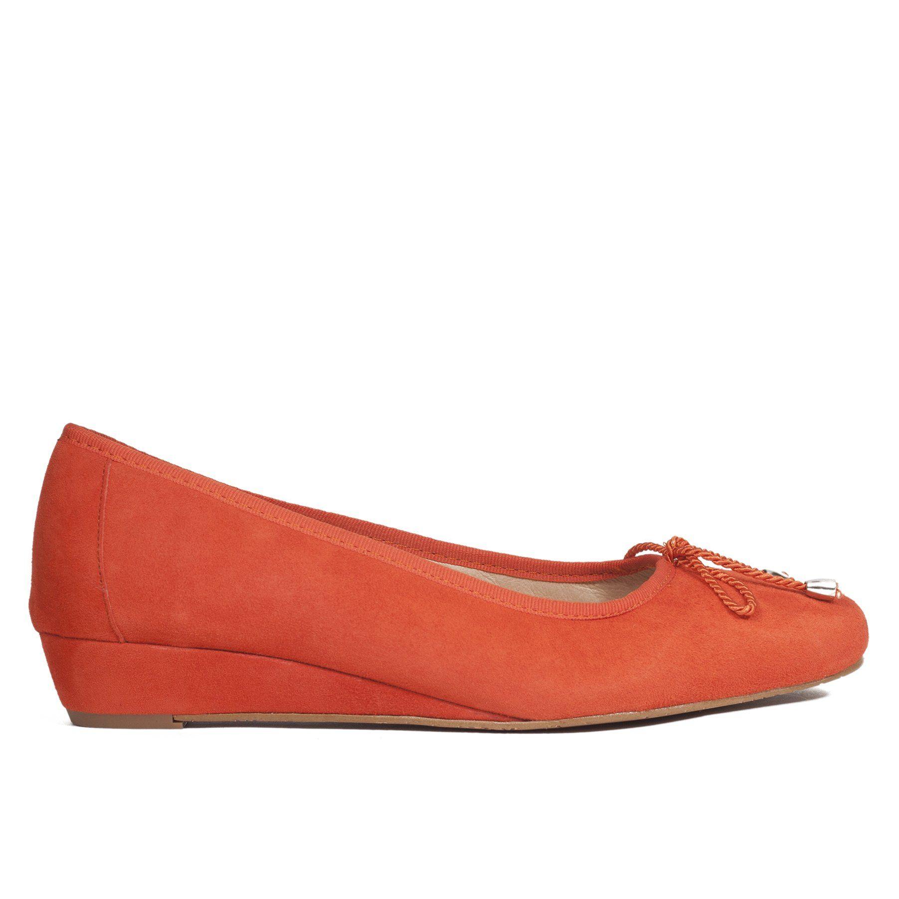 3493ac1227356 Zapato de cuña Naranja Piel-Ante - miMaO Zapatos Online – miMaO ShopOnline