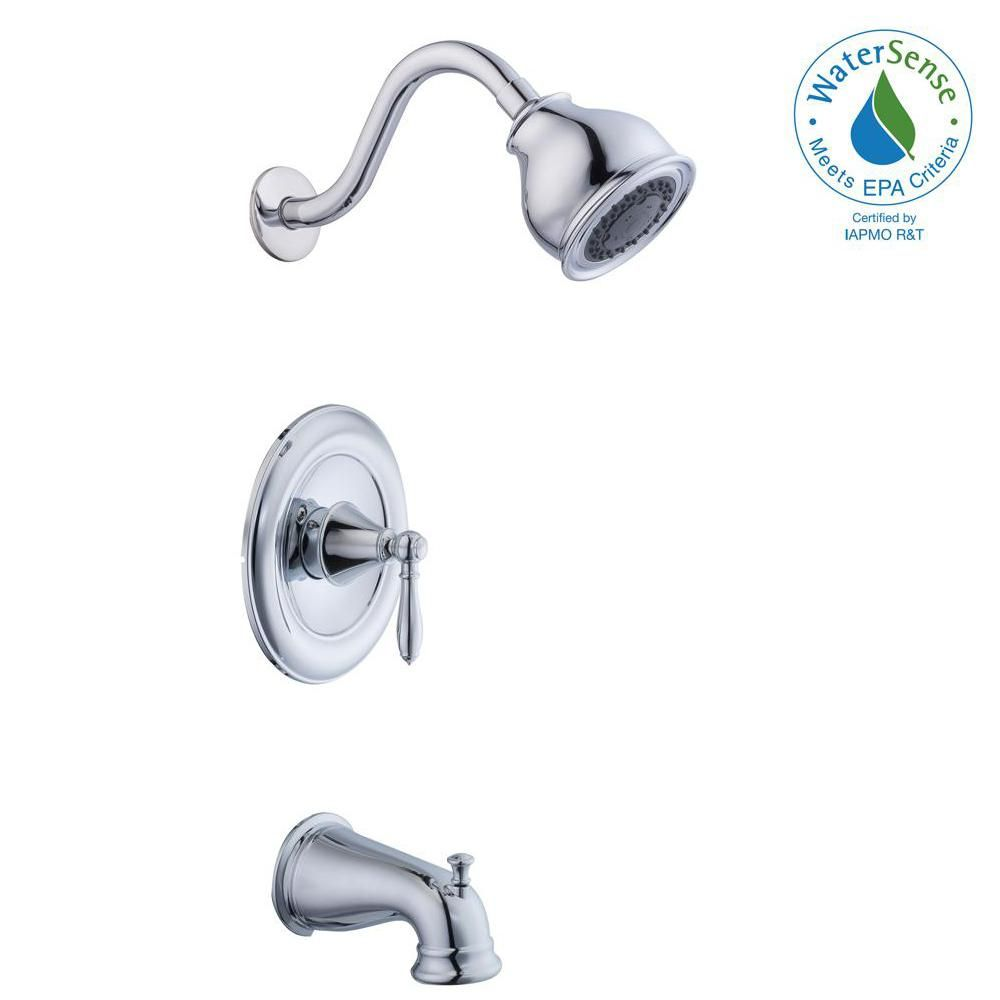 Glacier Bay Varina Single Handle 3 Spray Tub And Shower Faucet In