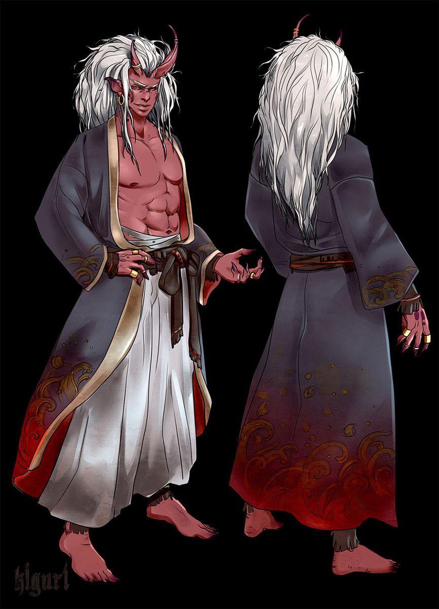 oni, sorcerer, tiefling Oni demon