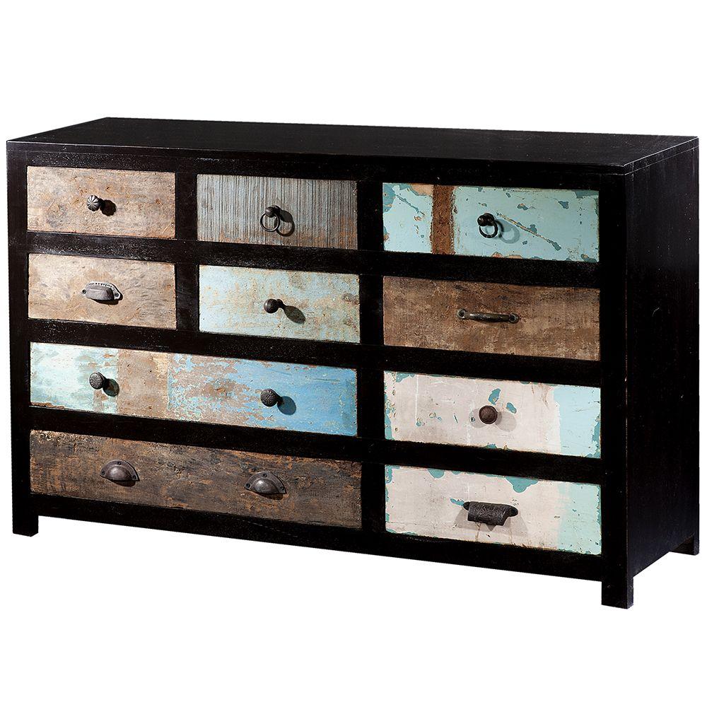 Portobello drawer wide cabinet chests u storage living room