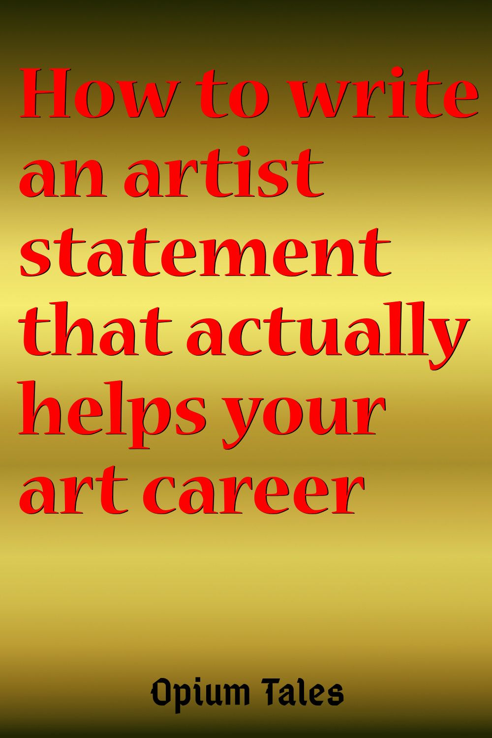 How to write a memorable artist statement with images