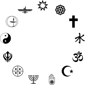 Publicdomainvectors Org Simbol Simbol Keagamaan Siluet Logo Bunga Siluet Agama