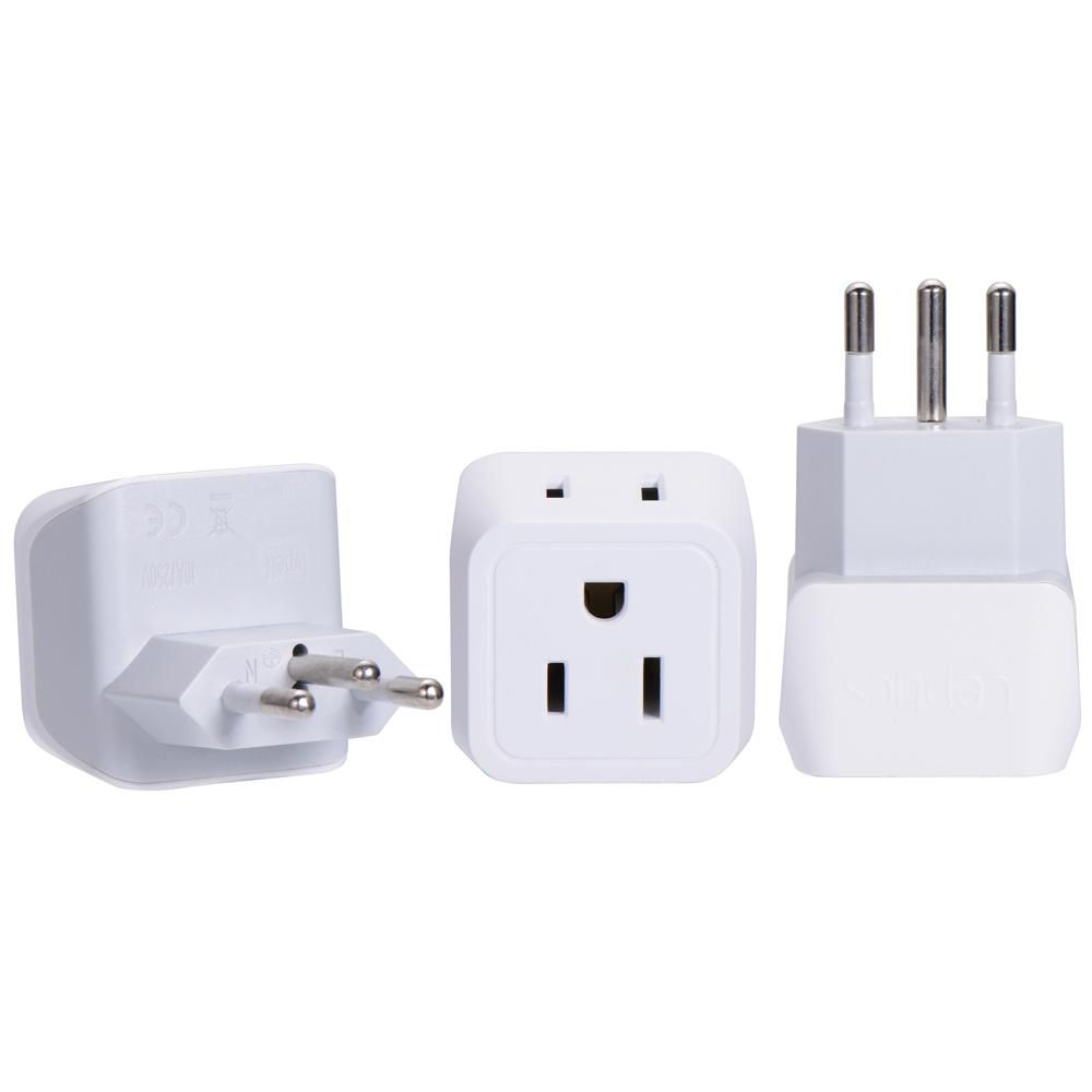 Brazil Travel Adapter Type N Ultra Compact Ct 11c 3 Pack Brazil Travel Travel Adapter Universal Travel Adapter
