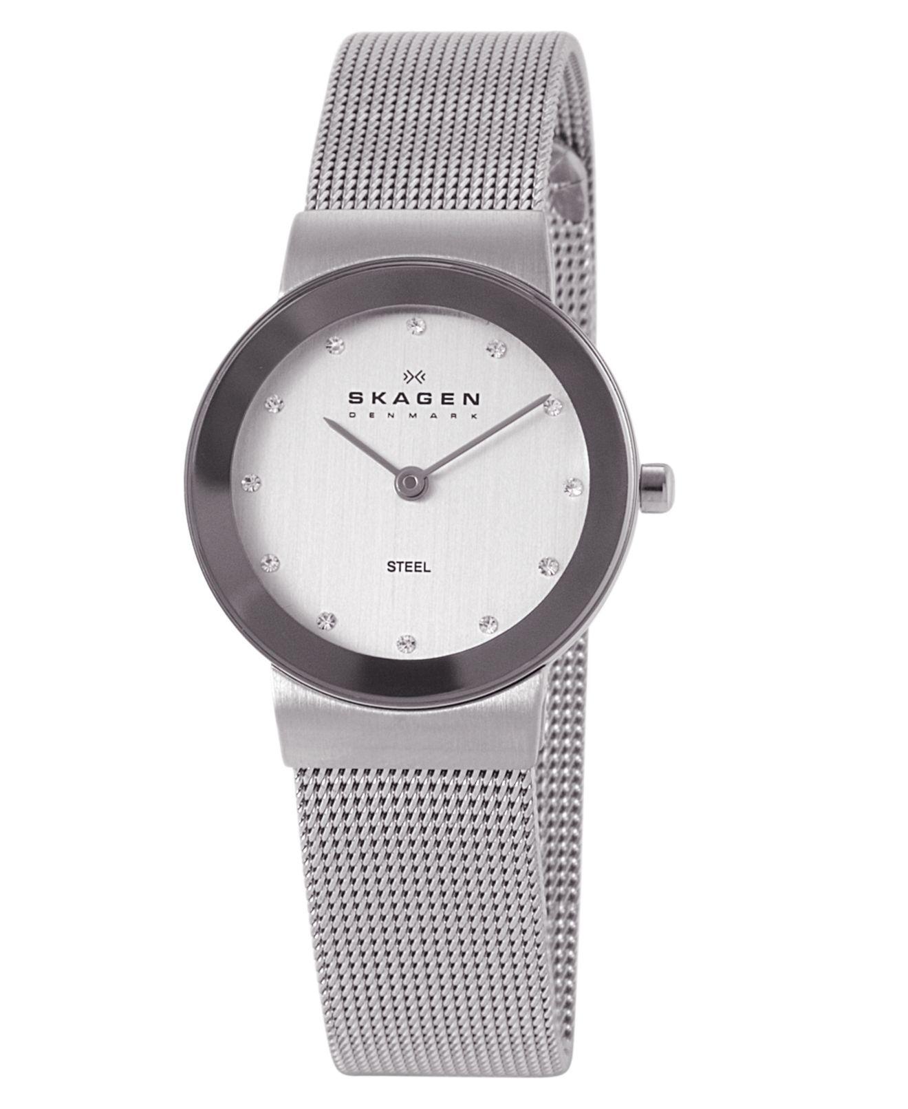 Skagen Denmark Women s Stainless Steel Mesh Bracelet 358SSSD - Women s  Watches - Jewelry   Watches - Macy s 2fd8238dc0