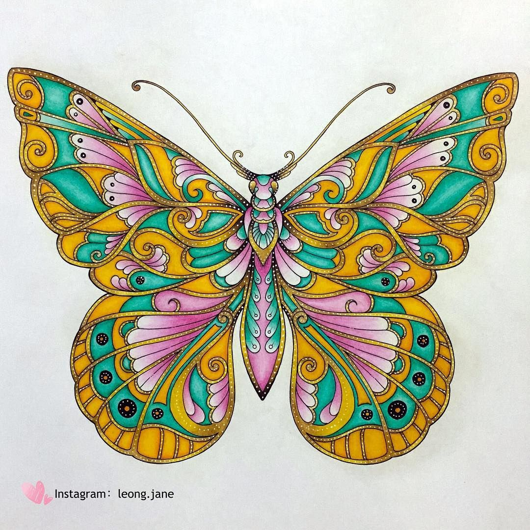 Jardimsecretolove Docepapelatelier Nossojardimsecreto Coloring Magical Jungle Johanna Basford Basford Johanna Basford Coloring Book
