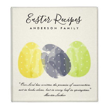 Modern colorful watercolor easter egg recipes gift 3 ring binder modern colorful watercolor easter egg recipes gift 3 ring binder romantic wedding gifts wedding anniversary negle Choice Image