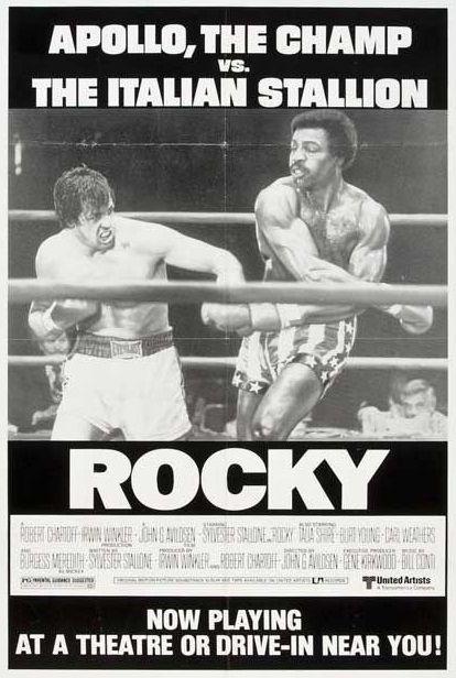 The Champ vs Poster 30 x 40 cm: Rocky: Apollo The Italian Stallion de Everett Collection Reproduction Haut de Gamme Nouveau Poster