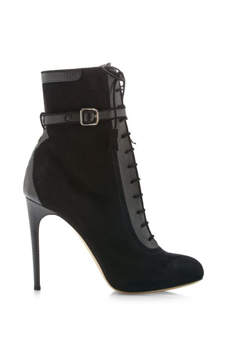 Malborough Lace-Up Suede Boots by Paul Andrew Now Available on Moda Operandi