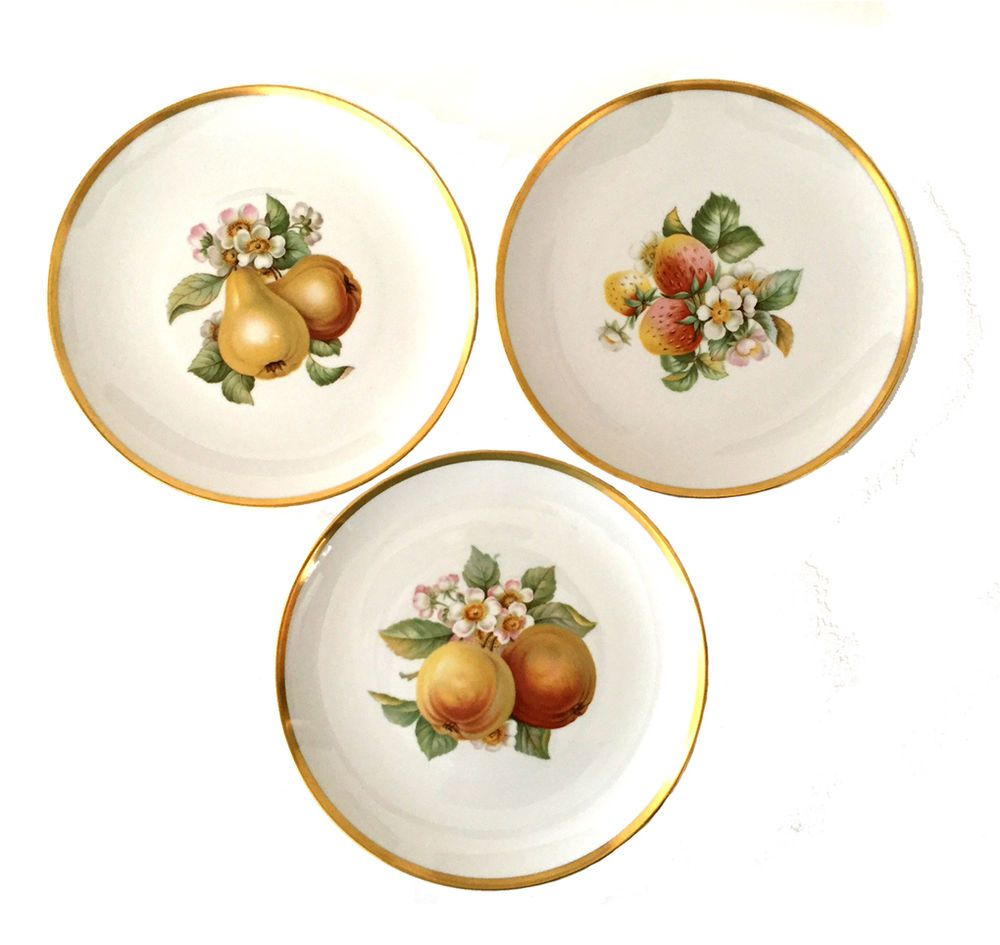 3 Hutschenreuther of Selb 8\  Fruit Plates Bavaria Germany China Porcelain  sc 1 st  Pinterest & 3 Hutschenreuther of Selb 8\