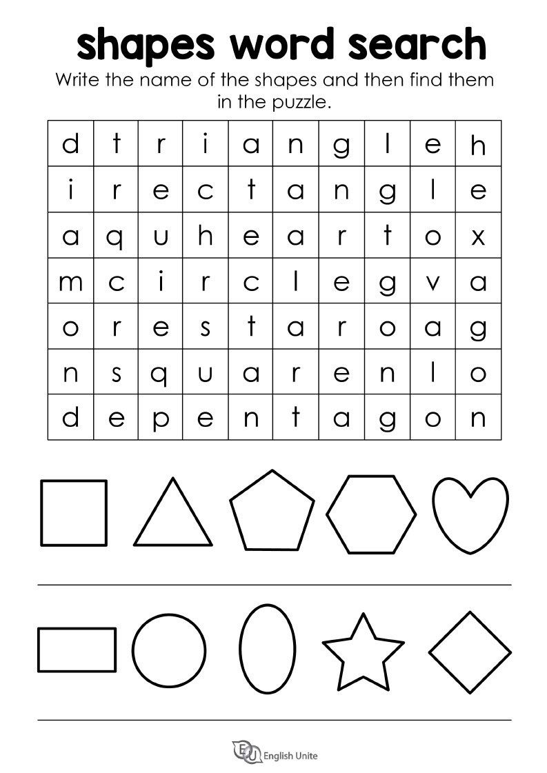 Shapes Word Search Puzzle English Unite Word Search Puzzle Word Search Printables Vocabulary Activities [ 1121 x 793 Pixel ]