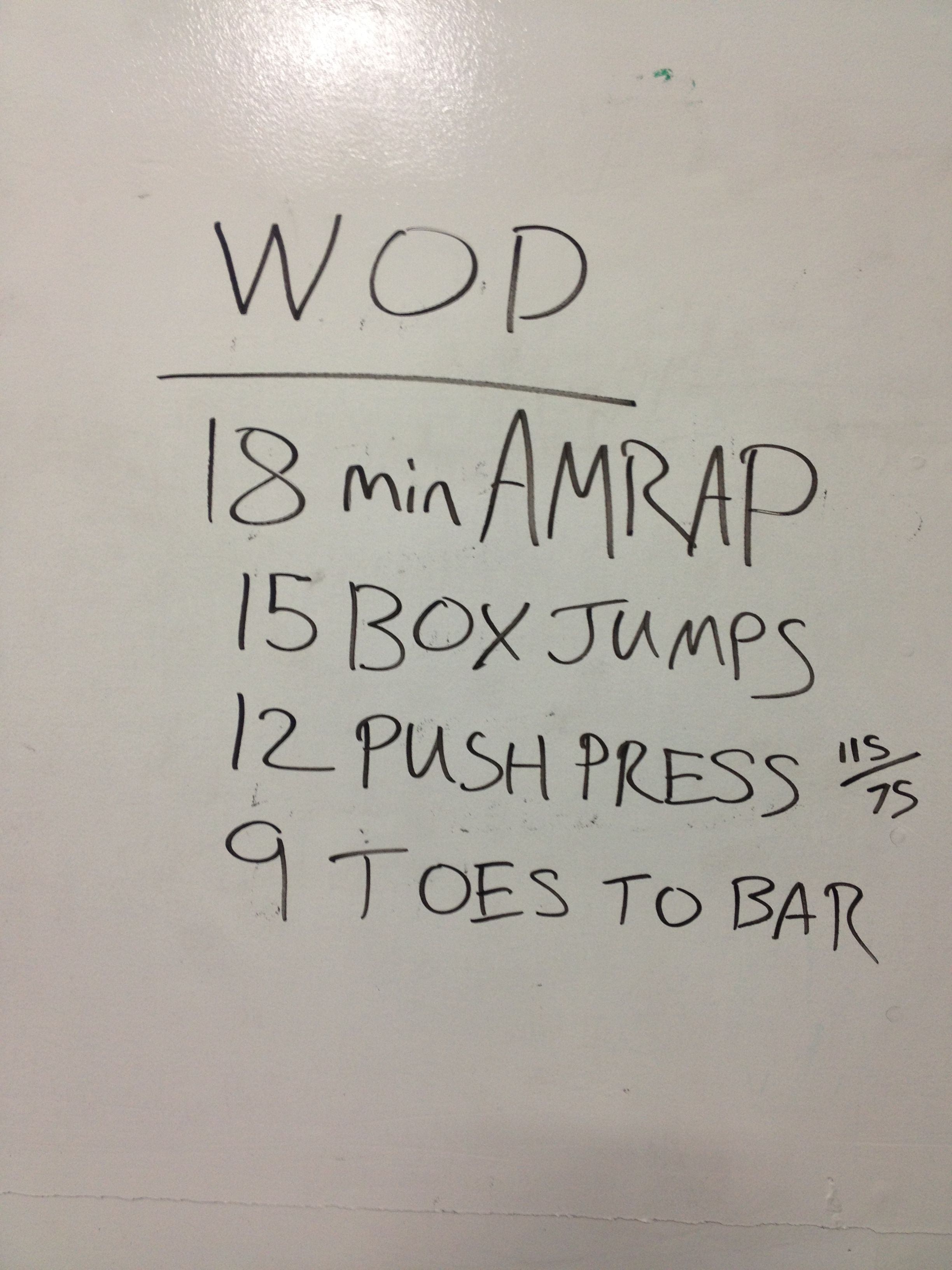 WOD - 20 in / 24 in box jumps