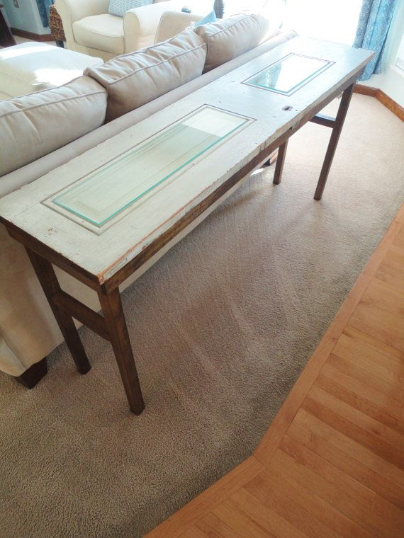 Recycled Sofa Table From Antique Door By