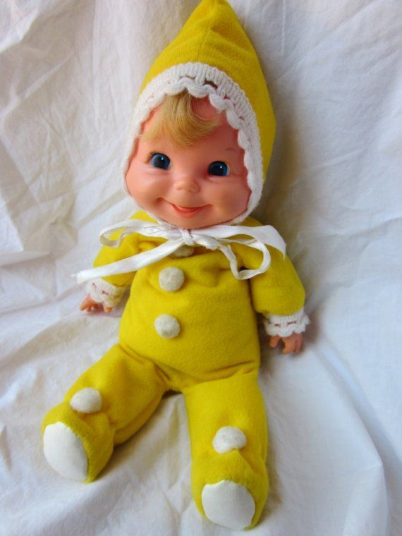 OP: 1970s baby dolls | Mattel Baby Beans Doll, still have it tucked away somewhere :) I remember mine being dressed in pink - must have been a different year.
