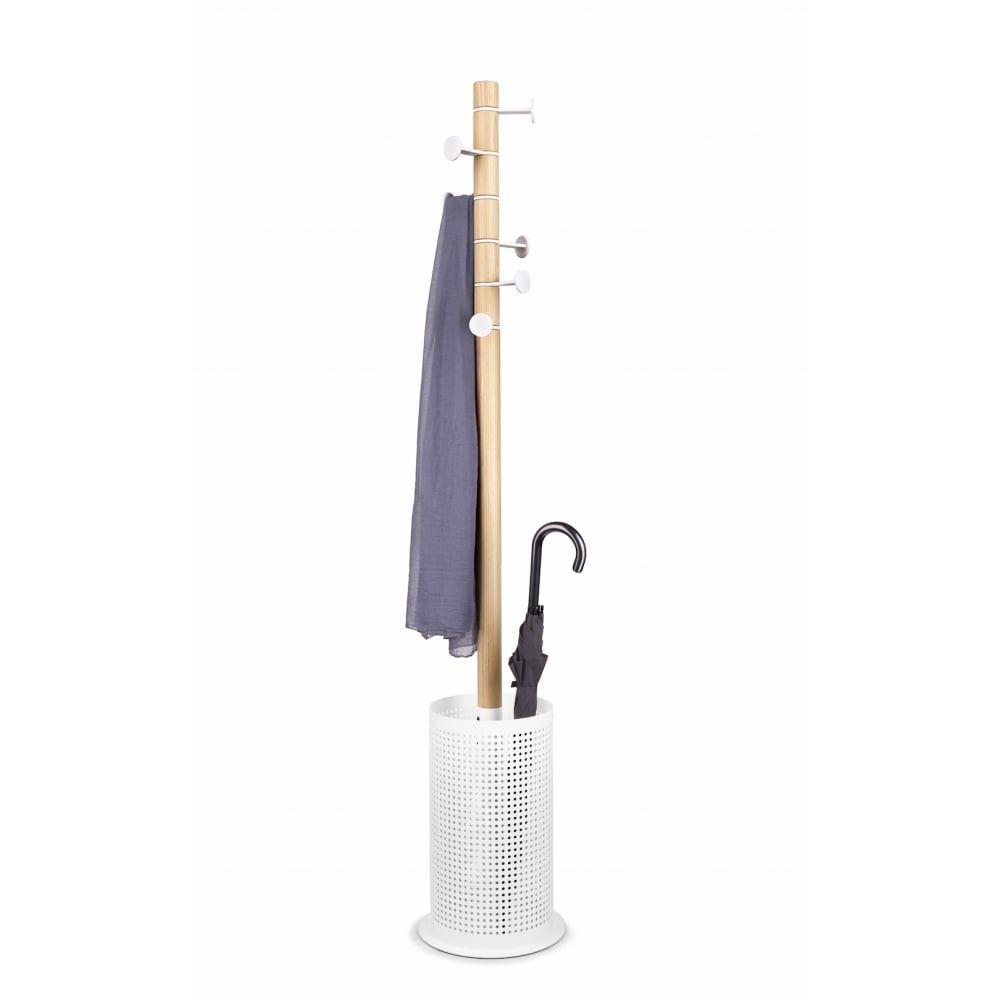 Umbra Promenade Coat Rack And Umbrella Stand White