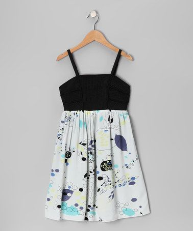 Look what I found on #zulily! Blue Floral Zipper Dress #zulilyfinds
