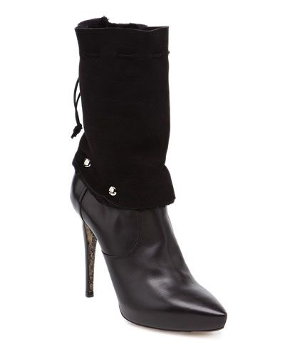 Cesare Paciotti Leather Ankle Boot