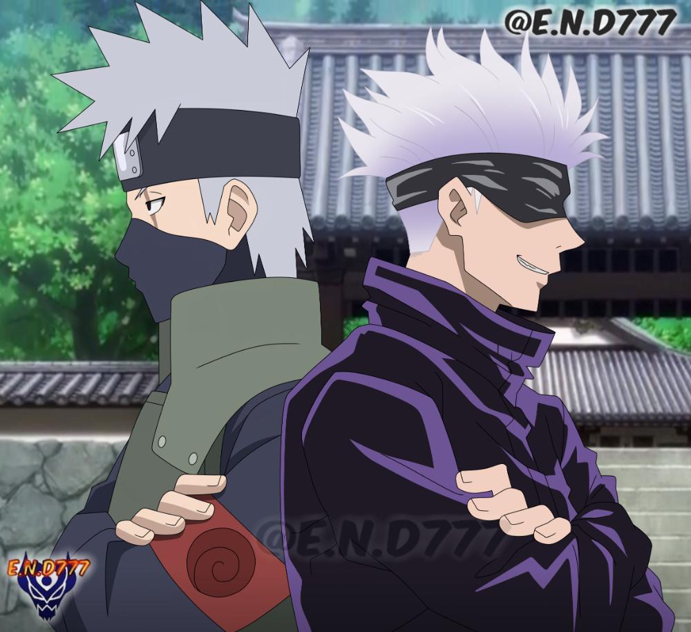 Kakashi Hatake Et Satoru Gojo By End7777 On Deviantart Anime Anime Films Kakashi Hatake