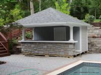 10 X 14 Siesta Poolside Bar Vinyl Siding Afternoons At The Pool Just Got Better With This Pretty Pool House From Hom Pool House Shed Cheap Pool Pool Houses