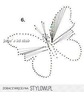 haft matematyczny motyl