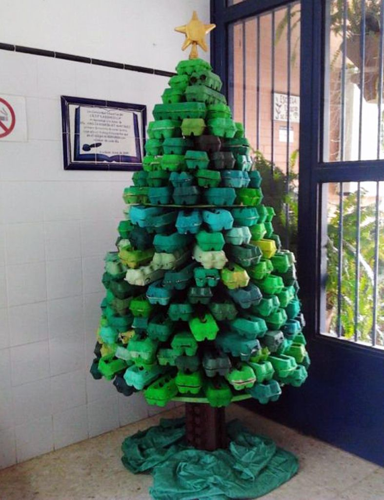 Detallelogia rboles de navidad reciclando papel - Manualidades de arboles de navidad ...