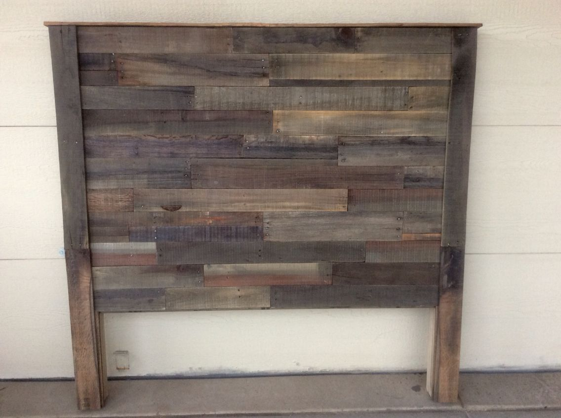 59 Incredibly Simple Rustic Décor Ideas That Can Make Your: DIY Pallet Headboard Apple Cider Vinegar And Steel Wool