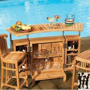 Indoor Outdoor Teak Bar From Gifts For You N Me Entertain
