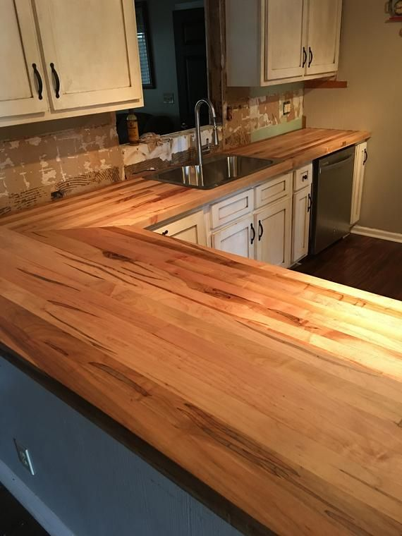 Kitchen Countertops Butcher Block Maple Tops Wood Countertop