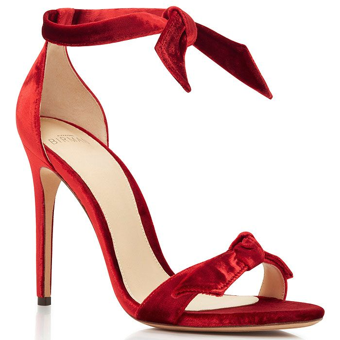 9937bc4c1dc Alexandre Birman Clarita Red-Velvet Bow Sandals