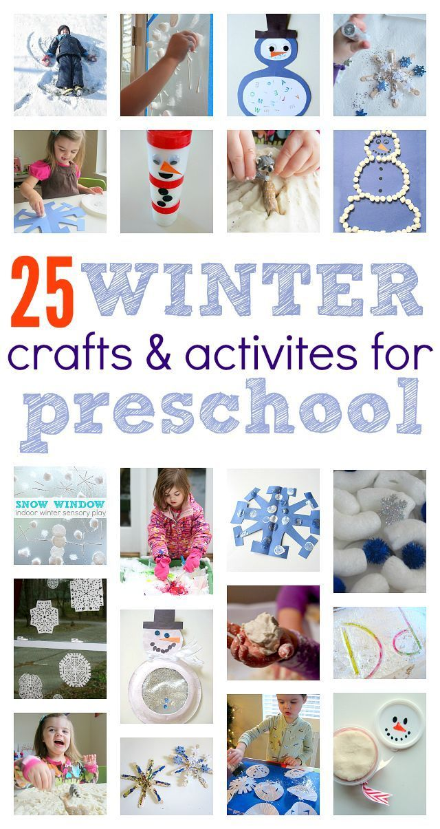 Winter crafts and activities for preschoolers happy - Bastelideen winter kindergarten ...