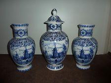 3 stck t delfts blue vasen delfter porzellan pinterest porzellan. Black Bedroom Furniture Sets. Home Design Ideas