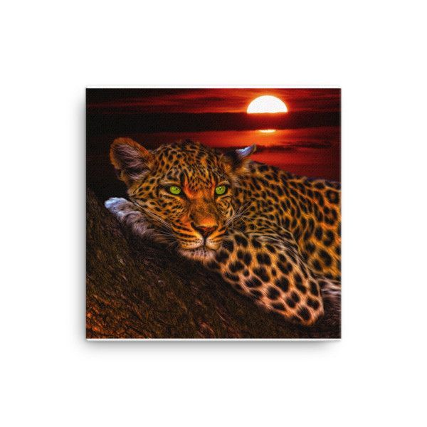 Leopard Print on Canvas