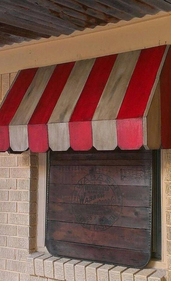 Rustic Wood Awning For The Inside Of Your Window Perfect