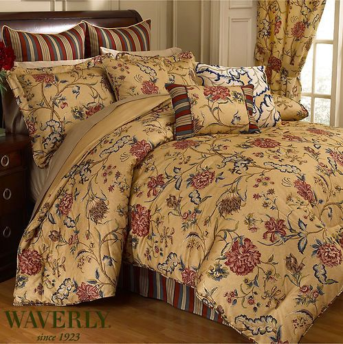 Waverly Spice Of Life Comforter Set King Bedding French Country Cottage Floral King Beds