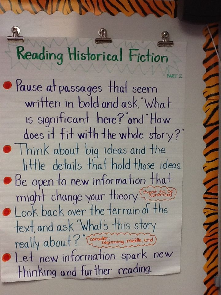 Historical fiction anchor chart part also best charts images rh pinterest