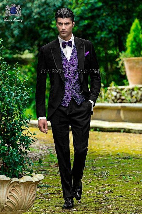 traje de novio italiano negro 1063 ottavio nuccio gala novios pinterest. Black Bedroom Furniture Sets. Home Design Ideas