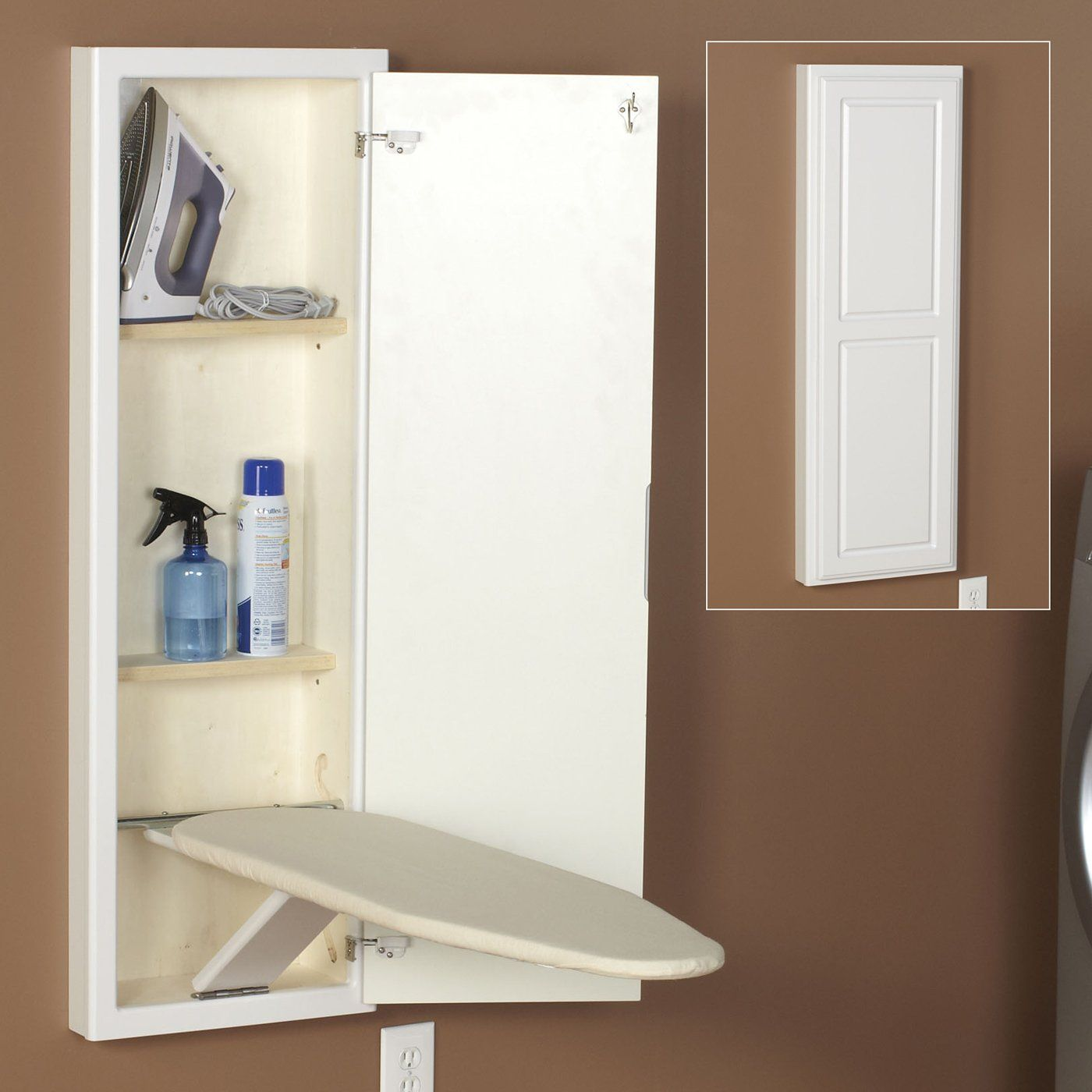 Household Essentials 18100 1 Stowaway In Wall Ironing Board Wall