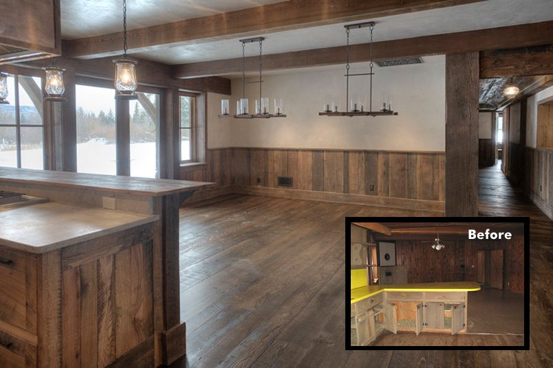 Barn Wood Wainscoting: Barn Wood Wainscoting Dining Room