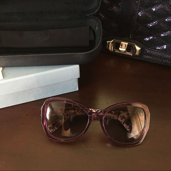 c78b511611f HP🎊🆕Lanvin D-Frame Purple Butterfly Sunglasses These sunglasses are brand  new with box