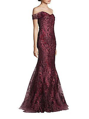 7a6d2ae1b RENE RUIZ Off-the-Shoulder Embellished Gown | Fashion | Embellished ...