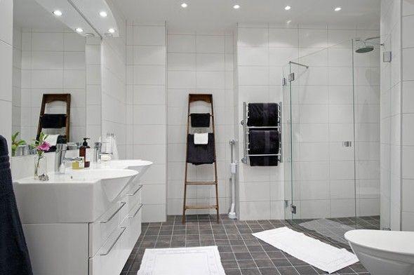 Beautiful Scandinavian Apartment In Specious White Interior BathroomScandinavian ApartmentScandinavian DesignScandinavian