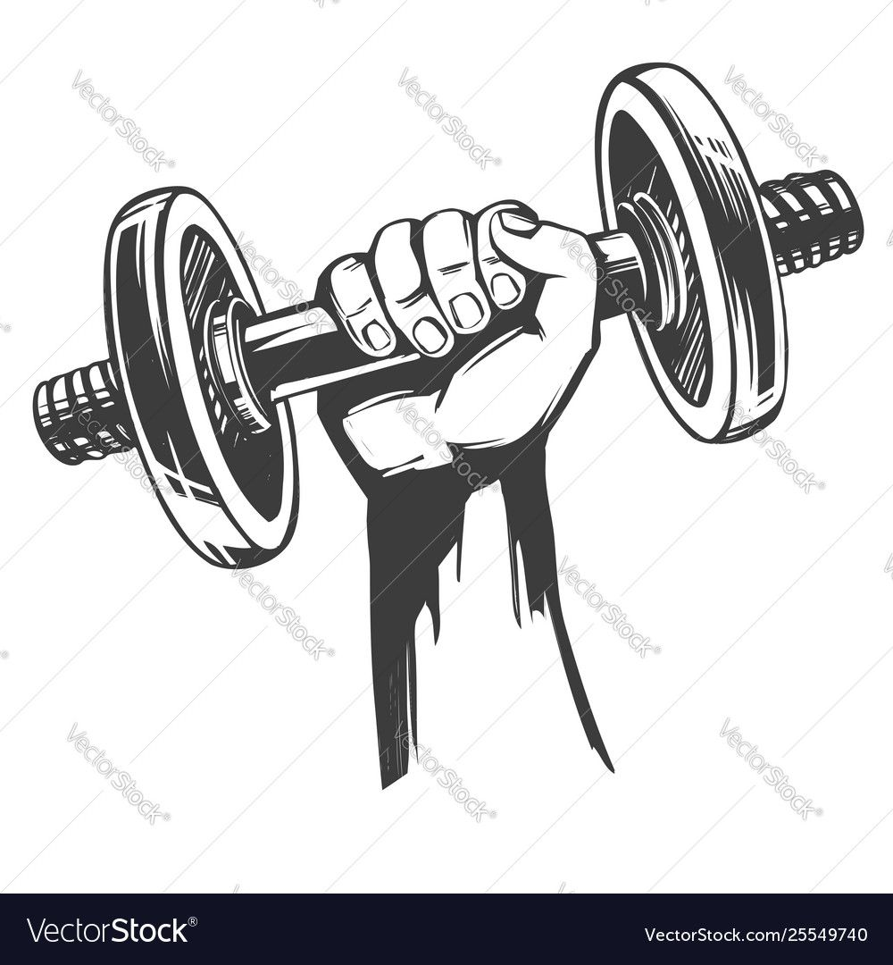 Arm Strong Hand Holding A Dumbbell Icon Cartoon Vector Image Affiliate Hand Holding Arm Strong Ad Gym Images Baby Animal Drawings Gym Wall Decal