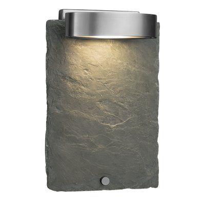 Loon Peak Westampton 1_Light Outdoor Sconce Finish: Brushed Nickel