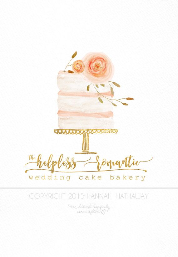 Vintage Naked Wedding Cake Logo